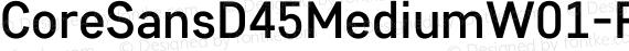 CoreSansD45MediumW01-Rg Regular preview image