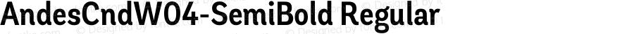 AndesCndW04-SemiBold Regular Version 1.00
