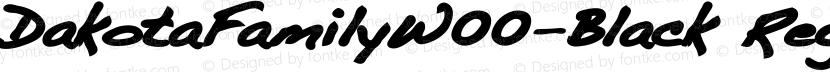 DakotaFamilyW00-Black Regular Preview Image
