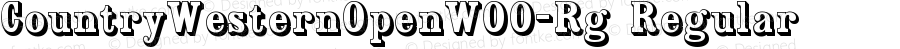 CountryWesternOpenW00-Rg Regular Version 1.00