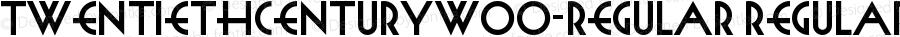 TwentiethCenturyW00-Regular Regular Version 1.00