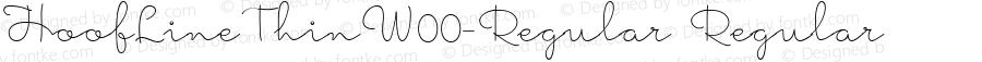 HoofLineThinW00-Regular Regular Version 1.52