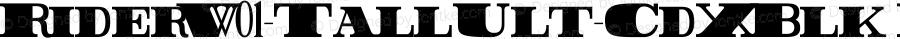 RiderW01-TallUlt-CdXBlk Regular Version 1.00