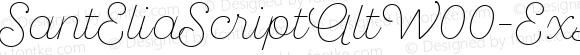 SantEliaScriptAltW00-ExLt Regular Version 1.00