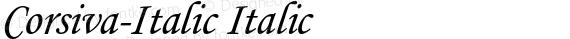 Corsiva-Italic Italic preview image
