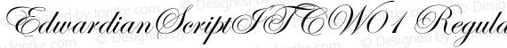EdwardianScriptITCW01 Regular preview image