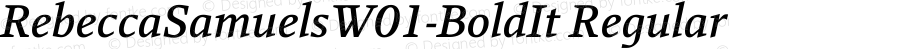 RebeccaSamuelsW01-BoldIt Regular Version 2.30