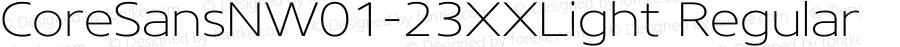 CoreSansNW01-23XXLight Regular Version 1.1