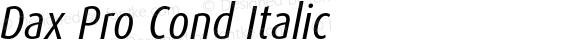 Dax Pro Cond Italic