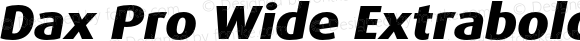 Dax Pro Wide Extrabold Italic