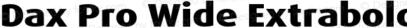 Dax Pro Wide Extrabold