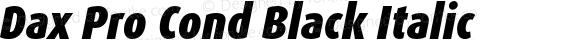 Dax Pro Cond Black Italic