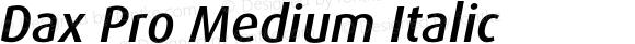 Dax Pro Medium Italic