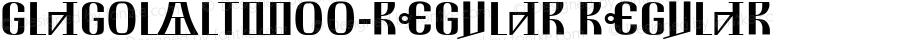 GlagolAltW00-Regular Regular Version 3.00