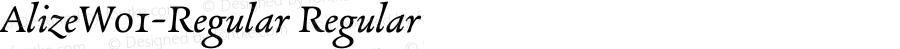 AlizeW01-Regular Regular Version 1.1