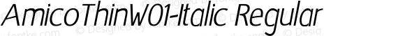 AmicoThinW01-Italic Regular Version 1.00
