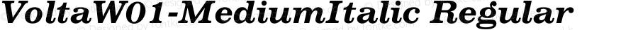 VoltaW01-MediumItalic Regular Version 1.00