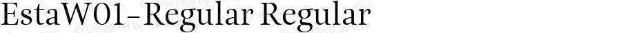 EstaW01-Regular Regular Version 1.00