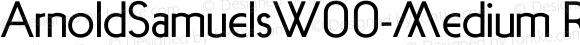 ArnoldSamuelsW00-Medium Regular Version 1.20