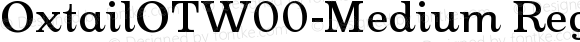 OxtailOTW00-Medium Regular Version 3.10