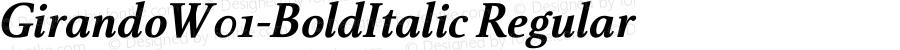 GirandoW01-BoldItalic Regular Version 1.00
