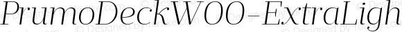 PrumoDeckW00-ExtraLightIt Regular Version 1.10