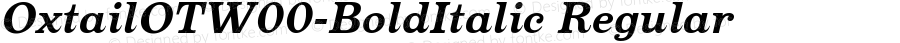 OxtailOTW00-BoldItalic Regular Version 3.10
