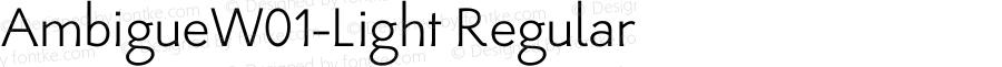 AmbigueW01-Light Regular Version 1.02