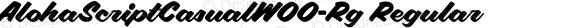 AlohaScriptCasualW00-Rg Regular Version 2.00