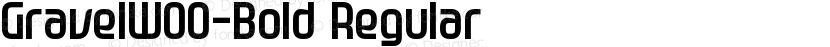 GravelW00-Bold Regular Preview Image