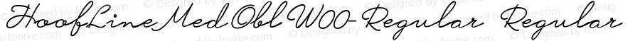 HoofLineMedOblW00-Regular Regular Version 1.62