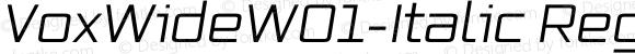 VoxWideW01-Italic Regular Version 2.30