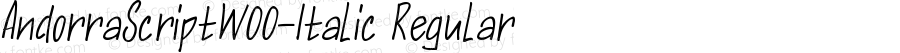 AndorraScriptW00-Italic Regular Version 1.00