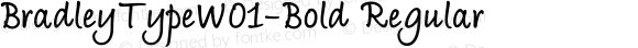 Bradley Type W01 Bold