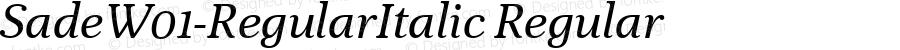 SadeW01-RegularItalic Regular Version 1.00
