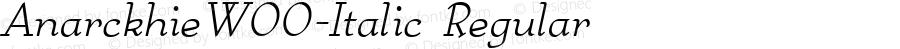 AnarckhieW00-Italic Regular Version 1.40