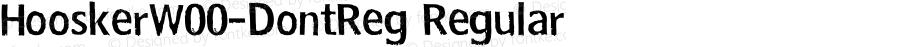 HooskerW00-DontReg Regular Version 1.00