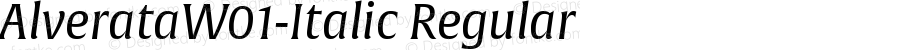 AlverataW01-Italic Regular Version 1.10
