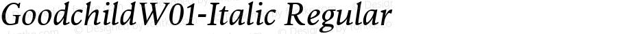 GoodchildW01-Italic Regular Version 1.00
