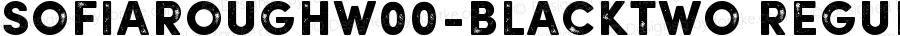 SofiaRoughW00-BlackTwo Regular Version 1.00