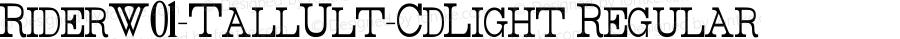 RiderW01-TallUlt-CdLight Regular Version 1.00