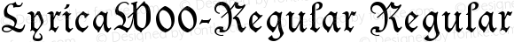 LyricaW00-Regular Regular Version 1.00