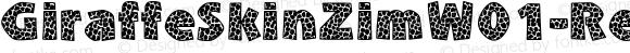 GiraffeSkinZimW01-Regular Regular Version 1.00