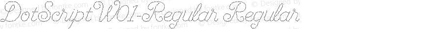 DotScriptW01-Regular Regular Version 1.00