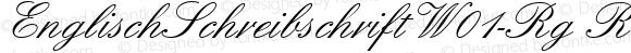 EnglischSchreibschriftW01-Rg Regular Version 1.00