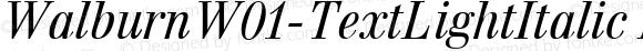 WalburnW01-TextLightItalic Regular Version 1.00
