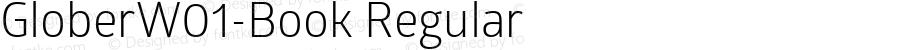 GloberW01-Book Regular Version 1.00