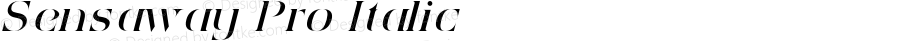 Sensaway Pro Italic Version 1.000