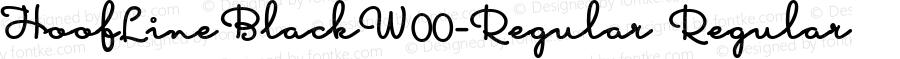 HoofLineBlackW00-Regular Regular Version 1.58