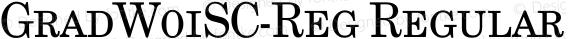 GradW01SC-Reg Regular Version 1.00